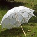2015 Bridal Umbrella White Lace Parasol Handmade Summer Battenburg Lace Wedding Umbrella Wedding Decorations Wedding Accessories