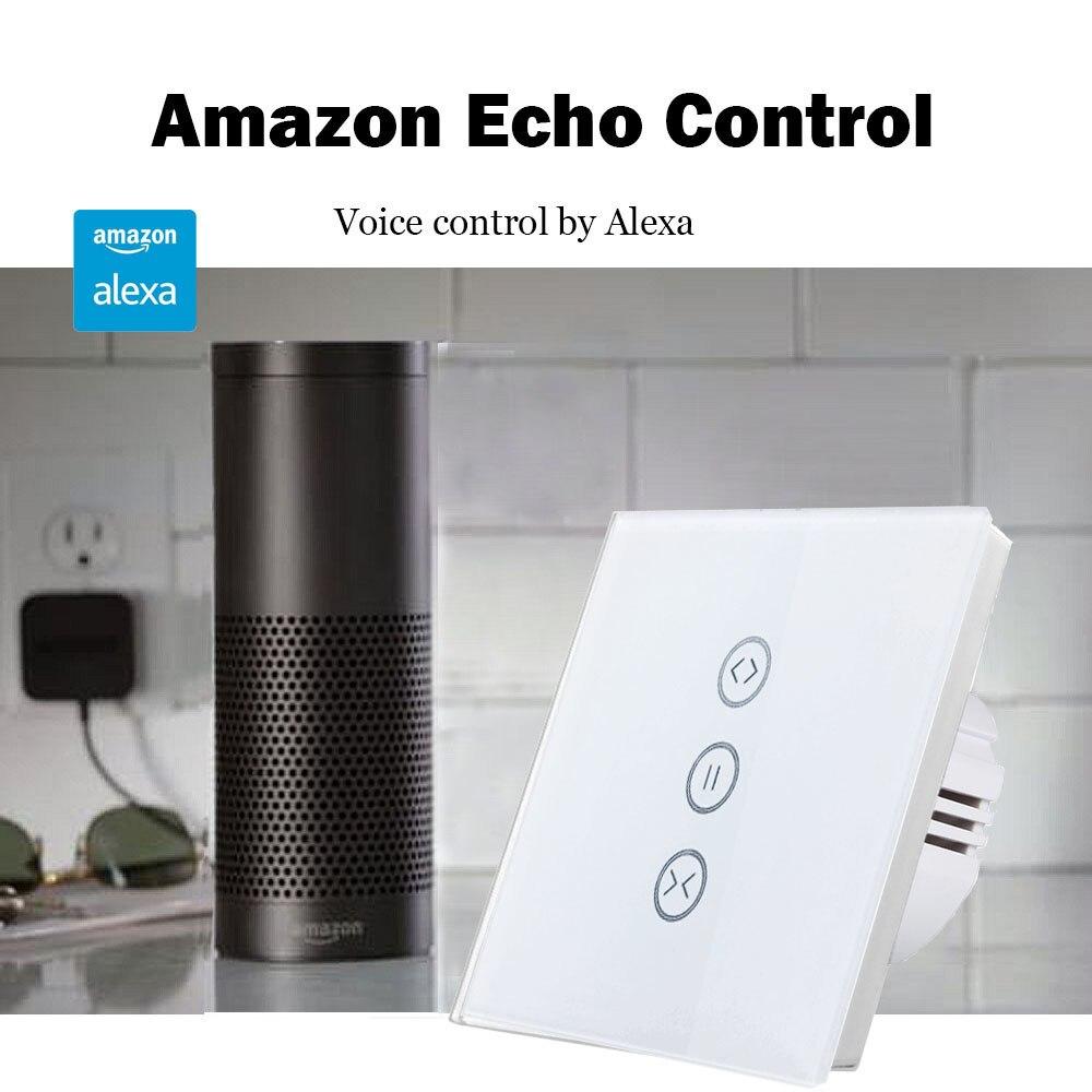 Купить с кэшбэком Tuya Smart Life EU WiFi Roller Shutter Curtain Switch for Electric Motorized Blinds with Remote Control Google Home Aelxa Echo