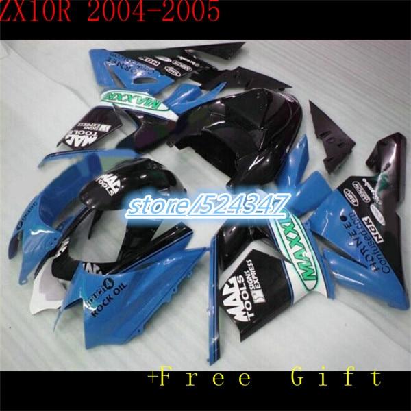 O 100% mais barato venda de motocicletas Kawasaki ZX NinjaZX 04 05 10 10 repsol rr azul carenagem corpo tinta preta parte três