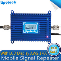 LCD 3G AWS 1700Mhz 2100mhz Mobile Phone Signal Repeater AWS Signal booster , 4G 1700Mhz Cellular Phone Signal Amplifier