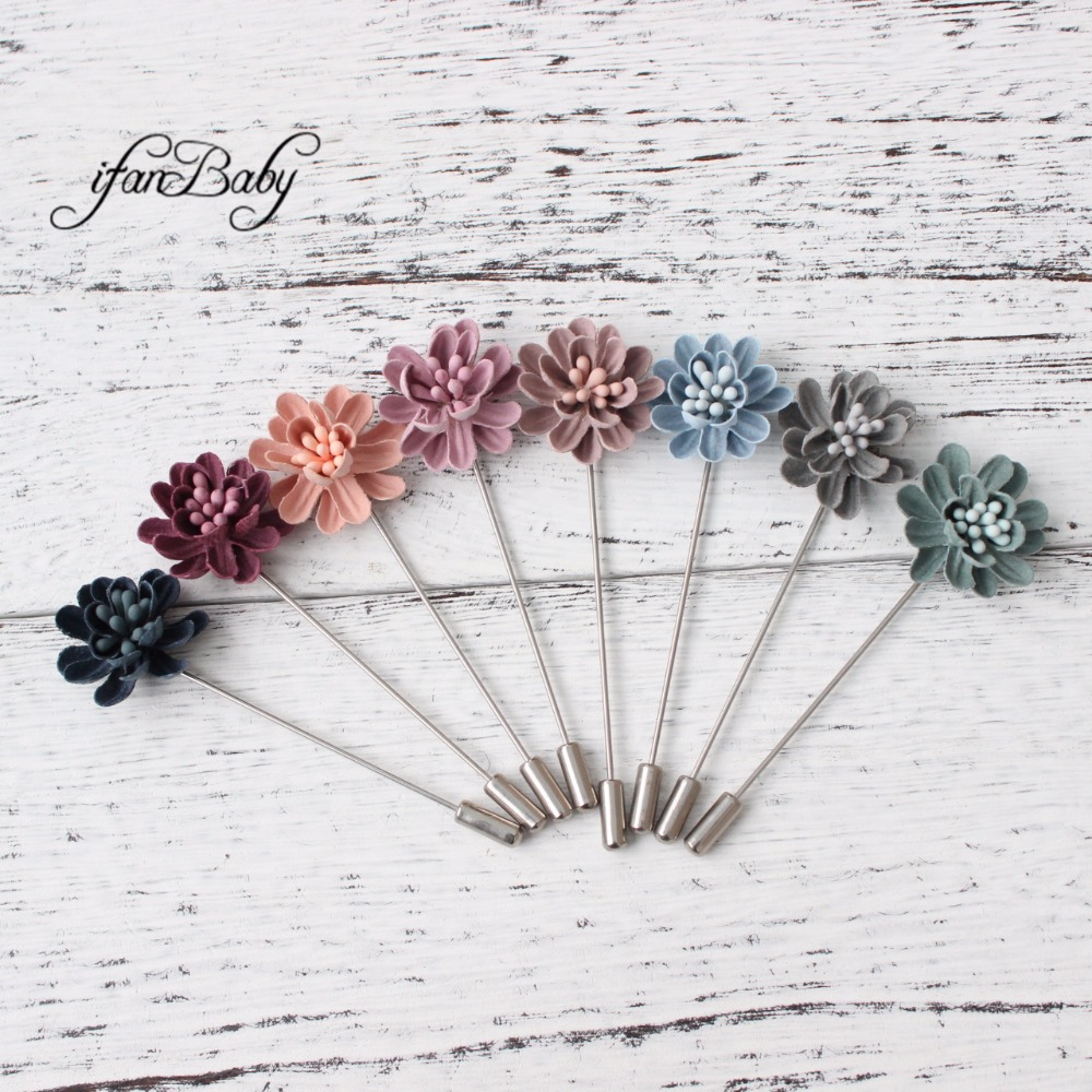 Fashion Brooch Men women brooch pins burn flower lapel pins suit wedding Brooch clip