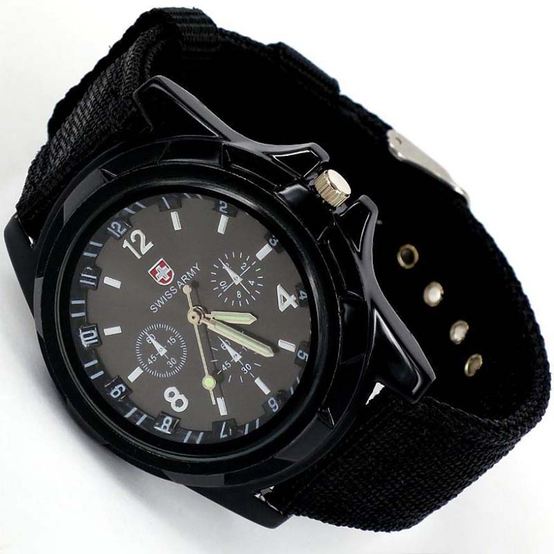 Bracelet Watchband Quartz-Clock Military-Watch Cool Sports Stylish Men's Analog Nylon