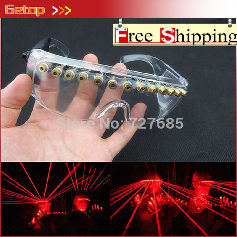 все цены на ZX 12 pcs Laser Glasses Hot Sell LED Red Laser Glasses Party Glasses for Christmas Glasses Event & Party Supplies Free Shipping
