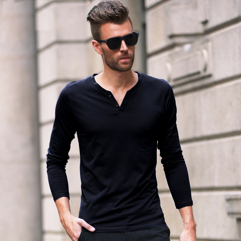 2016 New Fashion Summer Men Top Tees long Sleeve T Shirt Men brand ...