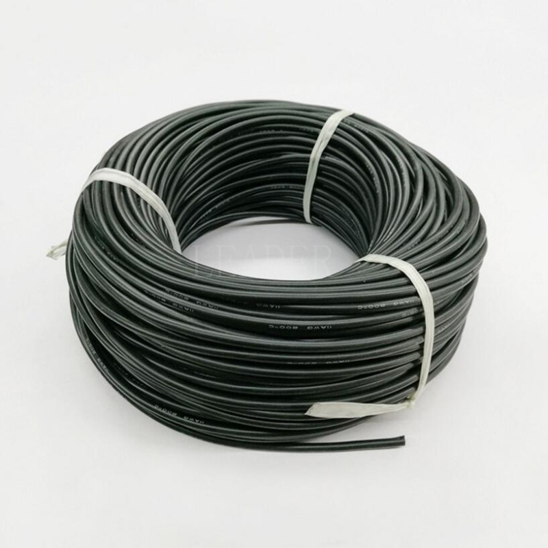 100 Meters Roll 10 12AWG Flexible Silicone Cable Soft High Temperature Tinned Copper Heatproof Silicone Silica