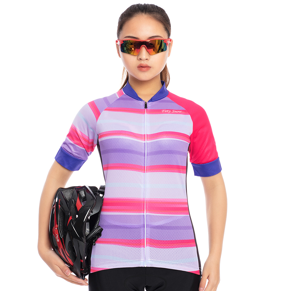Summer cycling clothing 2018 Firty snow women team Cycling Jersey bicycle breathable clothing maillot short sleeve women set