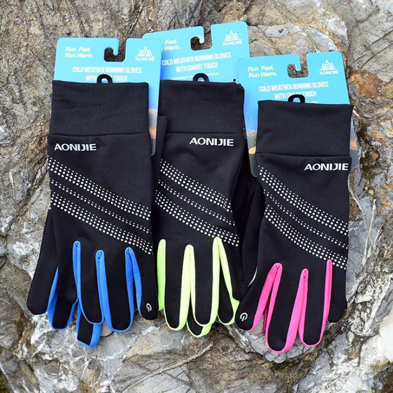 AONIJIE M50 Inverno Termico Sport All'aria Aperta Delle Donne Degli Uomini di Touchscreen Guanti In Pile Per Il Ciclismo Sci Escursionismo Jogging Riflettente
