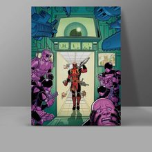 OMG Deadpool Is Coming Wall Pictures Superhero Funny Design Canvas Painting Super Hero Manga Bedroom HD Print Home Decor