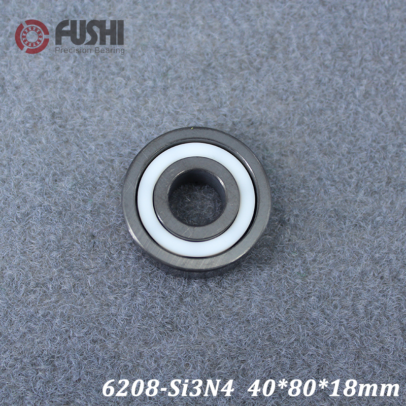 6208 Full Ceramic Bearing ( 1 PC ) 40*80*18 mm Si3N4 Material 6208CE All Silicon Nitride Ceramic Ball Bearings6208 Full Ceramic Bearing ( 1 PC ) 40*80*18 mm Si3N4 Material 6208CE All Silicon Nitride Ceramic Ball Bearings