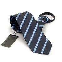 YENI Mavi Çizgili Fermuar Kravat 8 cm Tembel Kravat Kolay Çekme erkek Ticari Resmi Takım Elbise Düğün Kravatlar Ince Cravate Gravatas