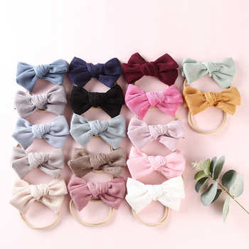 17 pcs/lot, Handtied Corduroy Bow Nylon Headbands or Hair Clips, Baby Girls Hair Accessory - DISCOUNT ITEM  21% OFF All Category