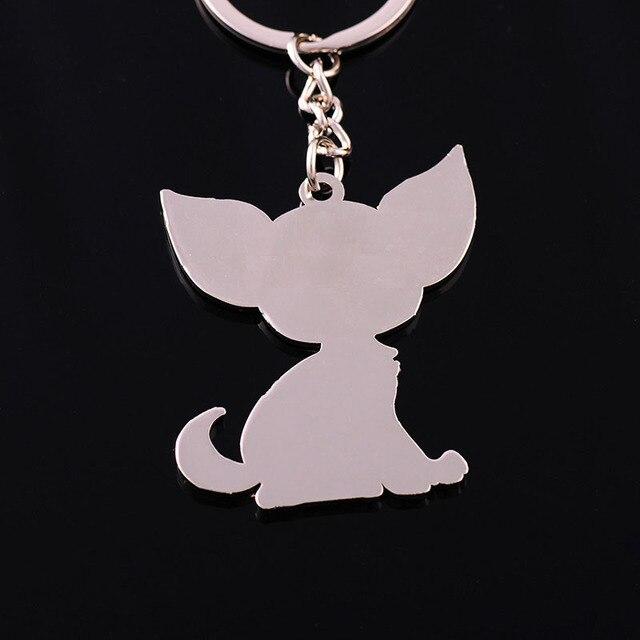 Chihuahua keychain key ring for women puppy dog key chain key holder cute portachiavi chaveiro llaveros bag charm free shipping