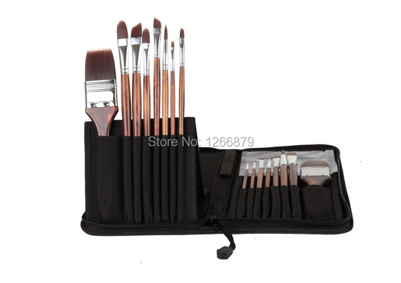 цена на  high quality paint brushes acrylic watercolor brushes 2283 16 pcs set synthetic hair wooden handle