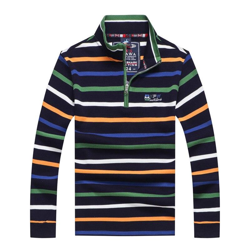 Tace Shark Male Business Sweater Striped Winter Shark Sweater Pullover Fashion Full Sleeve High Street Casual Autumn Streetwear