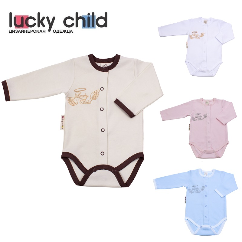 Bodysuits Lucky Child for girls and boys 17-6 Angels Newborns Babies Baby Clothing Children clothes tank tops made in russia детские штаны city of angels and children s clothes 1501 28 2015