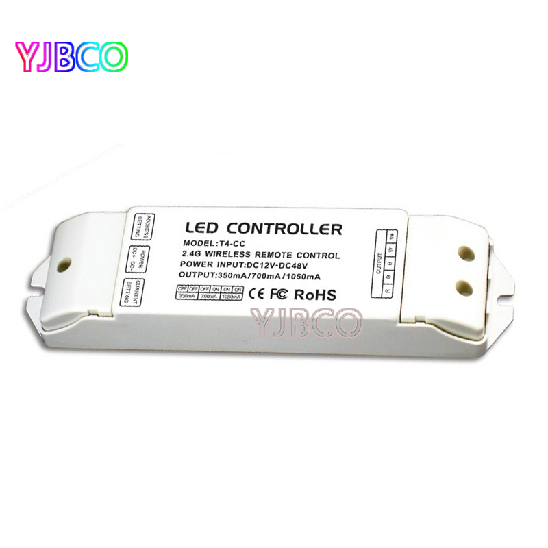 2.4G Remote constant current T4-CC led Receiver Wireless controller LED Current Suitable for T4 Remote Control t4 cc receiver controller 2 4g wireless remote constant current led current suitable for t4 remote control free shipping