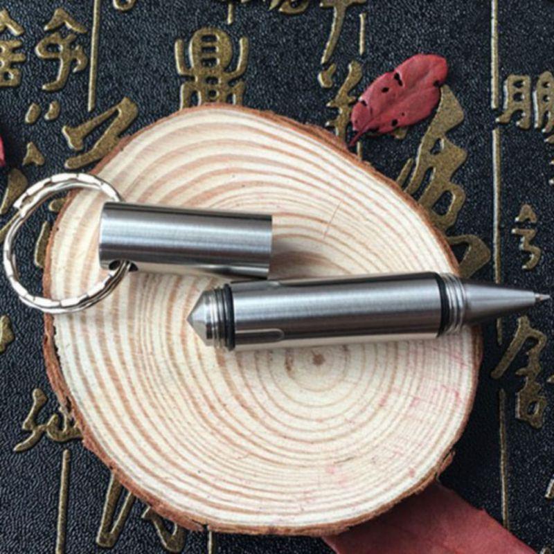 Mini EDC Pocket Tactical Pen Outdoor Survival Tool Stainless Steel Keychain Broken Window Glass Breaker