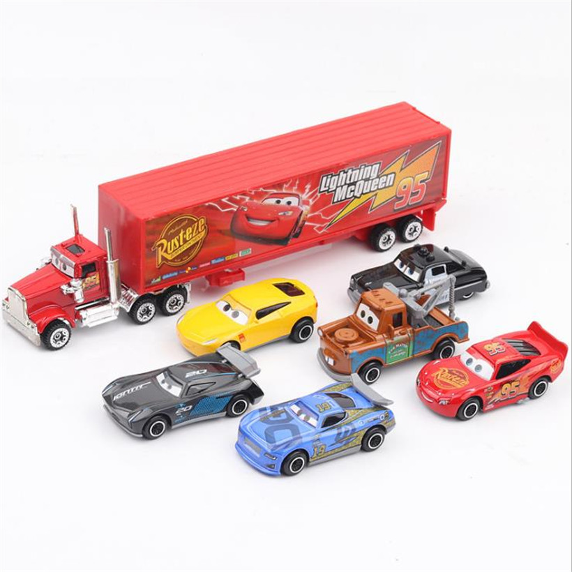 Disney Series Kit Pixar Cars 6 Toys Cars Mack Truck The King 1:64 Diecast Metal Alloy Car Model Figures Children Toys Gifts
