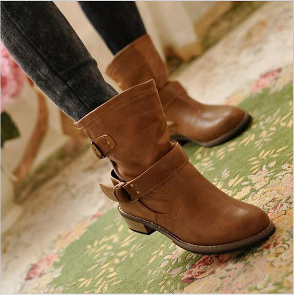 5220982722 2015 new woman ladies shoes zapatos mujer chaussure women boots ankle boots  bota Riding Boots Casual Ladies Martin Boots Q213