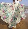 KAYWIDE S-XLFloral imprimir bohemias de las mujeres de split falda larga de Verano sexy girls 90's alta cintura ocasional floja maxi faldas femenino
