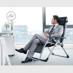 Portable Mesh Folding Chair Adjustable Tilt Angle Armchair for Home Office Nap Multi-function Patio Furniture/beach Lounger