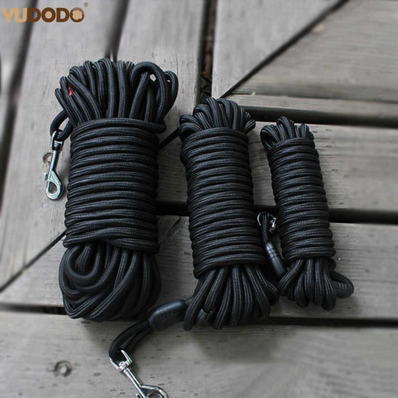 Starke Nylon Hund Leine Lange Tracking Runde Seil Outdoor Walking Training Pet Führt 5 mt 10 mt 15 mt Leinen für Medium Größere Hunde