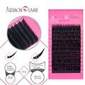 Arison Ellipse Flat Eyelash All Size J B CD Curl 2/Ps Individual Eyelash Extension Soft Black Fake False Eye Lashes Make up Tool