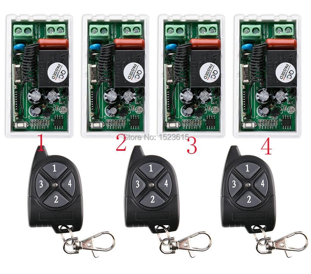 AC220V 10A 1CH RF Sistema de Interruptor de Control Remoto Inalámbrico 433 3 MHZ