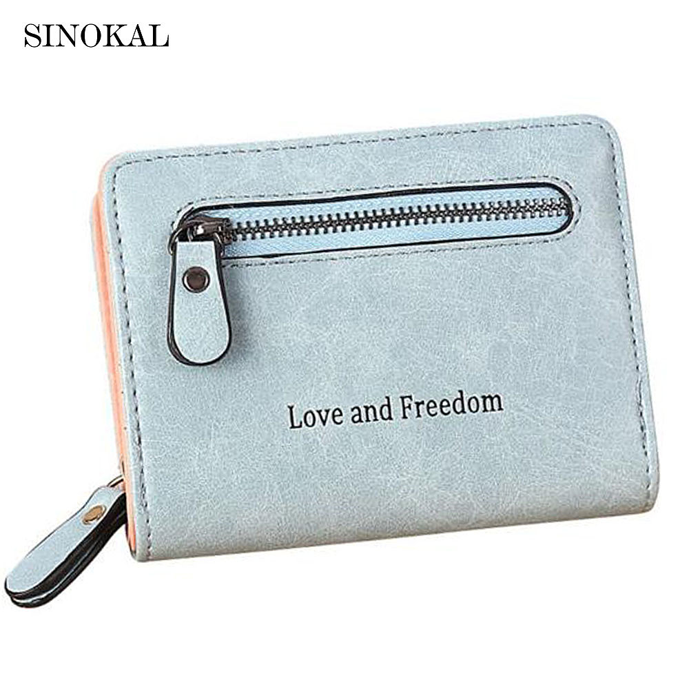 Women's Purses Cute Short Wallet PU Leather High Quality Zipper Purse Women Small Deisign C102 Wallets for Ladies and Girls moana maui high quality pu short wallet purse with button