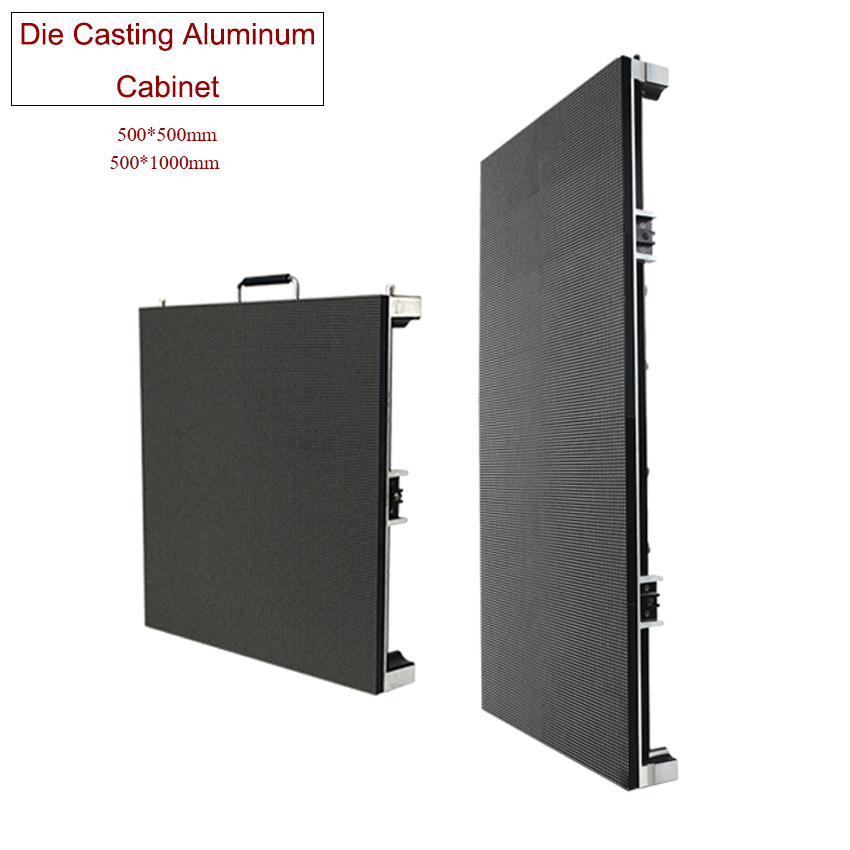 High Quality HD LED Panel P3.91 SMD1921 RGB LED Display 500x1000mm Die Cast Aluminum Cabinet Rental Outdoor Advertising Screen