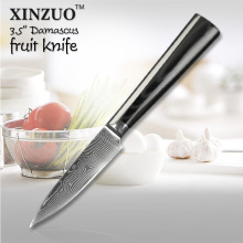 XINZUO 3.5″ Damascus kitchen knife paring fruit knife kitchen knife VG-10/VG10 steel parer knife with Mikta handle FREE SHIPPING