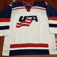 d368edb250e Vintage Team USA HOCKEY JERSEY Embroidery Stitched Customize any number and  name Jerseys(China)