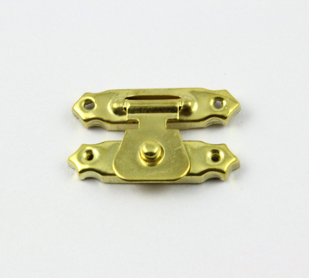 Gold Jewelry Box Latch Lock Gift Box latch 29x16mm with Screwsin