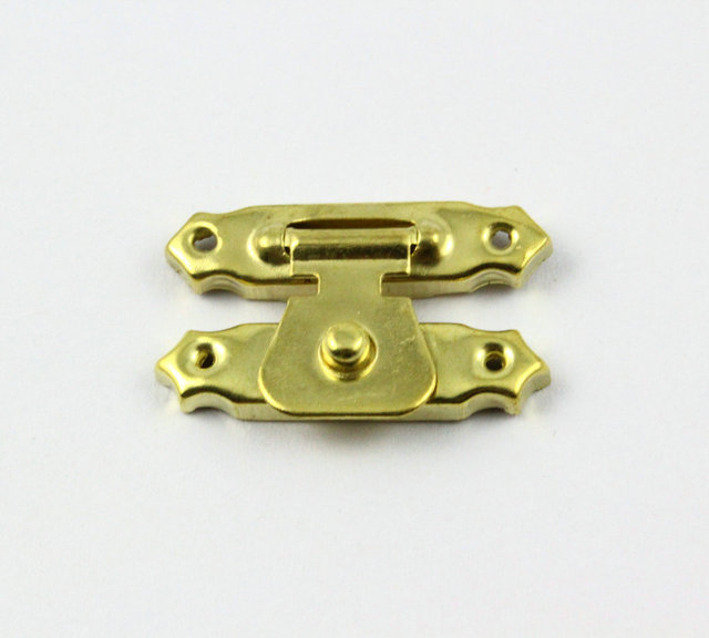 Gold Jewelry Box Latch Lock Gift Box latch 29x16mm with Screwsin