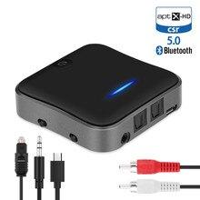 Bluetooth 5.0トランスミッタレシーバCSR8675 aptx hd ll btオーディオ音楽ワイヤレスusbアダプタ3.5ミリメートル3.5 auxジャック/spdif/rcaテレビpc用