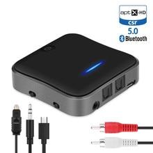 Bluetooth 5.0 Trasmettitore Ricevitore CSR8675 APTX HD LL Bt Audio Musica Senza Fili USB Adattatore 3.5 millimetri 3.5 AUX Martinetti/SPDIF/RCA per TV PC