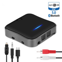 CSR8675 Bluetooth Transmitter 5.0 APTX HD Adapter 3.5mm/SPDIF/Digital Optical Toslink for Car Speaker, Bluetooth Audio Receiver