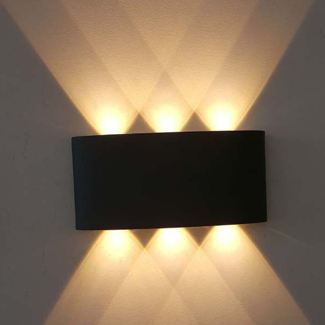 Jiawen Aluminum 6W Led Wall Light UP U0026 Down LED Stair Bedside Lamp Bedroom  Wall Sconce