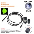 5.5mm 2 M Mini USB Endoscoop IP67 Waterdichte HD Camera Borescope Inspectie Scope 6 Witte LEDs 720 P Buis Voor PC Android Telefo