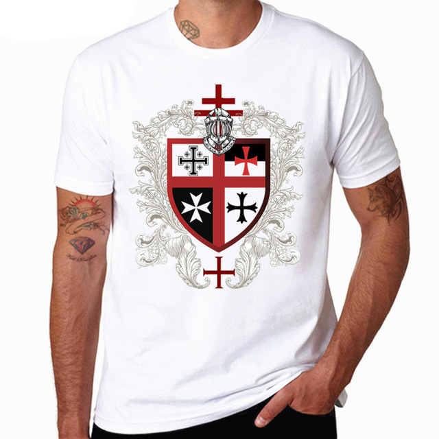 Templar Knight   t     shirt   harajuku streetwear marvel   t     shirt   men white   shirt   camisetas hombre