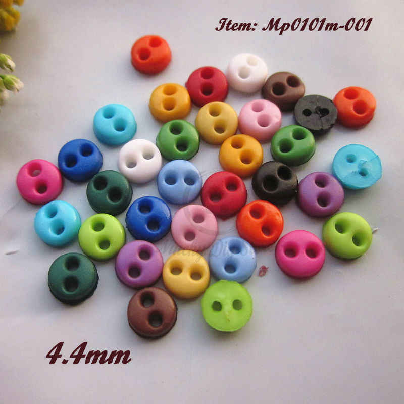 200 pcs tiny star buttons for doll crafts sewing costume size 4 mm mix colors