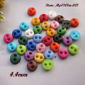 Tiny buttons 4mm 144pcs mixed / 1 color round mini buttons for crafting 16 colors crafting doll clothes sewing accessories