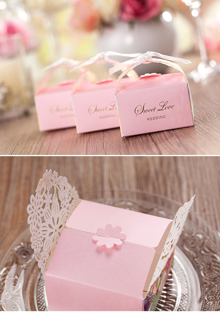 Casamento 30pcs/lot Pink Sweet Love Wedding Favor Boxes Wedding ...