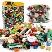 1000PCS DIY Building Blocks Sets Creator City Creative Bricks Baseplate Parts Educational Toys for Children цена 2017