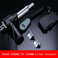 Linear Actuator With Controller Transformer Stents 24V DC Motor Heavy Duty 6000N 600KG Stroke 50 1200mm