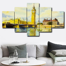 Laeacco London Big Ben Canvas Prints Painting Home Decoration Wall Art Paintings Pictures For Living Room Bedroom No Frame