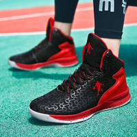Men High top Basketball Shoes Unisex Men and Women Shoe Light Jordan Basketball Sneakers Anti skid Breathable Outdoor Sports