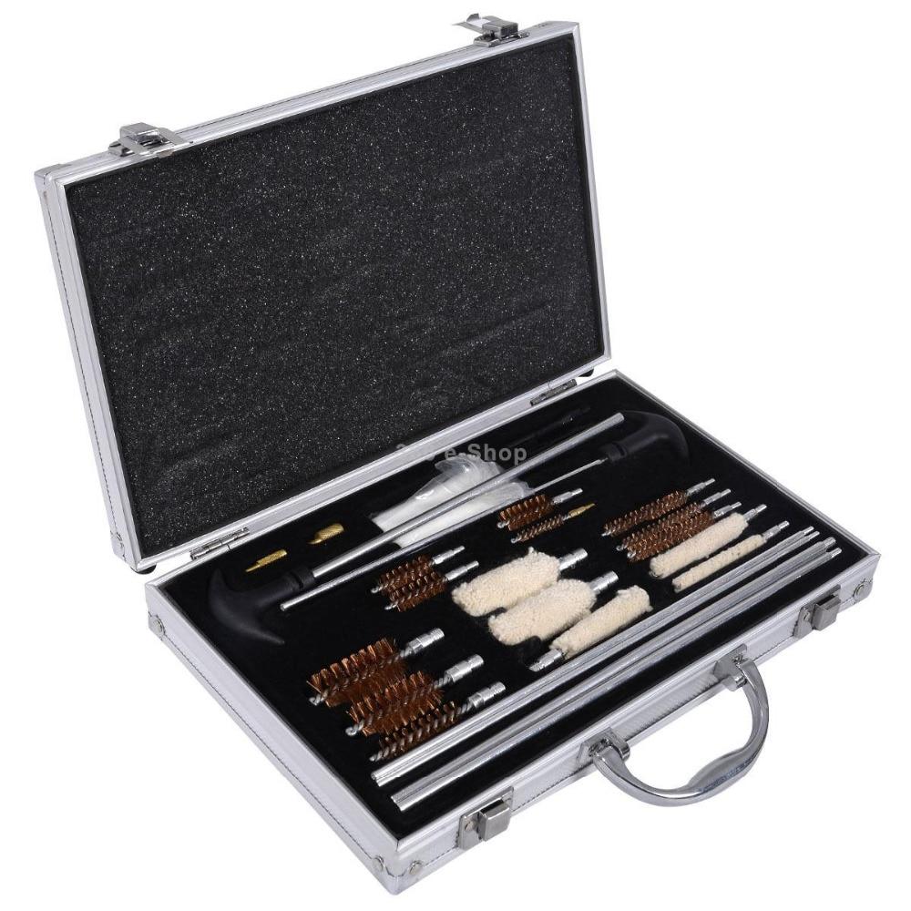 Pro 78 pièces Kit de nettoyage de pistolet universel pour fusil pistolet de poing fusil de chasse pistolet à Air kit de nettoyage pour Sniper pistolet long