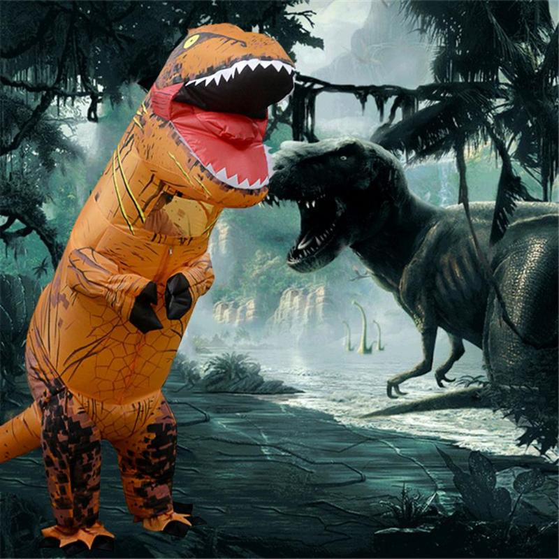 Inflatable Dinosaur Costume T Rex Children Halloween Dress Cosplay Suit Electrical Dinosaur Toys Tyrannosaurus Cosplay Kids Gift