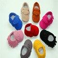 Novo Infantil Genuínos Mocassins de camurça de Couro de Vaca Do Bebê Do Bebê Moda Franja Sapatos firstwalker Newborn Anti-slip Calçados Infantis